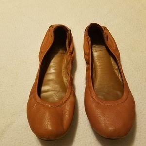 Tory Burch Eddie Ballet Brown Flats Size 7